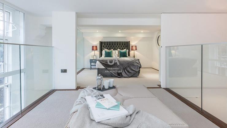 Chambre à coucher spacieuse Chambre à coucher minimaliste par Urbanist Architecture Minimalist Metal