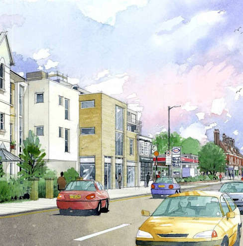 Hampton Hill, Richmond, Londres Maisons modernes de 4D Studio Architects and Interior Designers Modern