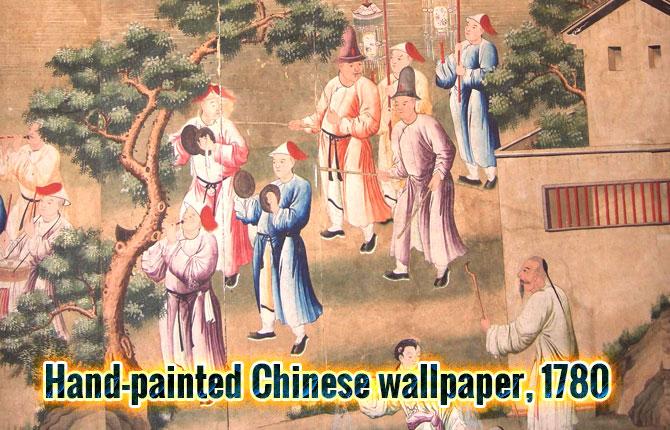 Papier peint chinois peint à la main