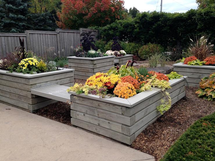 Benchscape Jardin moderne par Lex Parker Design Consultants Ltd. Moderne