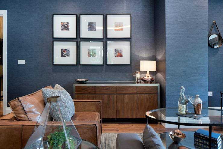 Musewll Hill, Londres Salon de style éclectique par Jigsaw Architecture intérieure éclectique