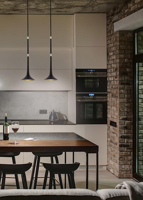 Plafond noir Loft Single Pendant Light Lumières en laiton : minimaliste par Luxury Chandelier, Minimaliste Cuivre/Bronze/Brasson