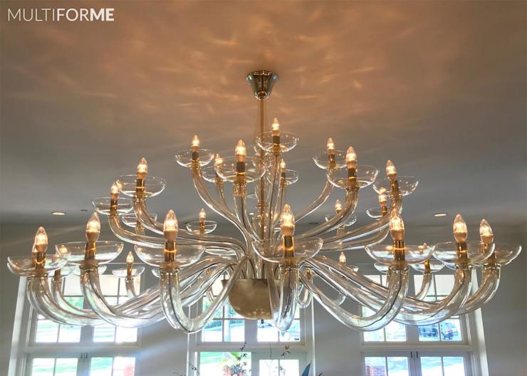 Éclairage multiforme des lieux d'événements de style éclectique du Denver Country Club grâce à l'éclairage MULTIFORME® Eclectic Glass