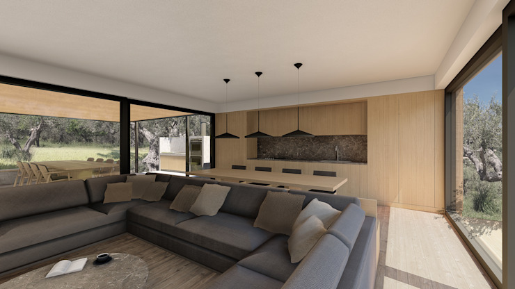 MAISON EN BOIS G|C - SICILE par ALESSIO LO BELLO ARCHITETTO a Palermo Country Wood effect