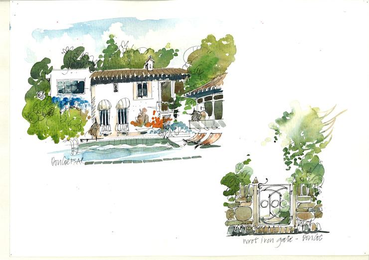 Piscine et porte de jardin Maisons modernes par le studio 4D Architectes et décorateurs d'intérieur modernes