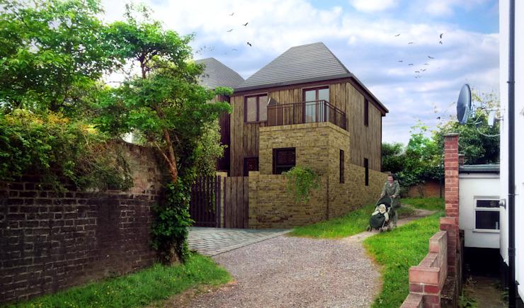 Deux maisons dans le sud de Londres : éclectique par 4D Studio Architects and Interior Designers, Eclectique