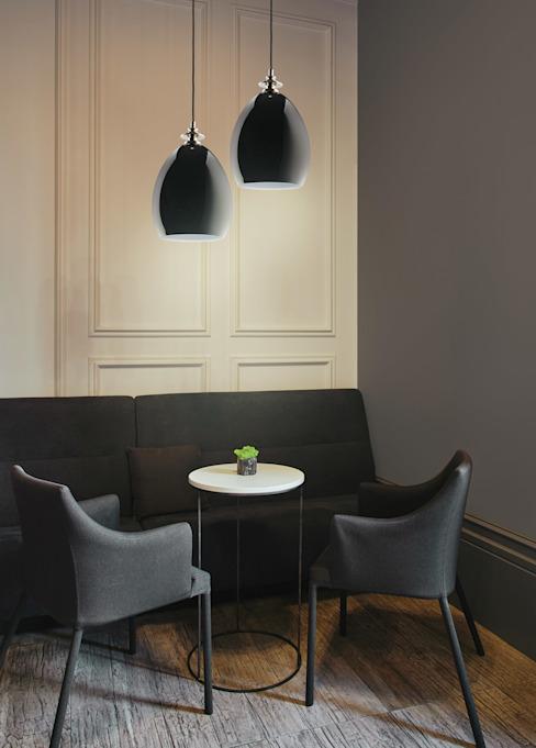Designer Pendentif lumineux NEMI Laiton poli Verre Abat-jour Salle à manger moderne par Luxe Lustre Verre moderne