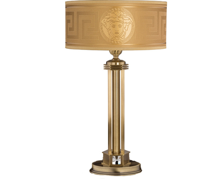 Lampe de chevet avec Versace doré : classique par Luxury Chandelier, classique cuivre/bronze/laiton