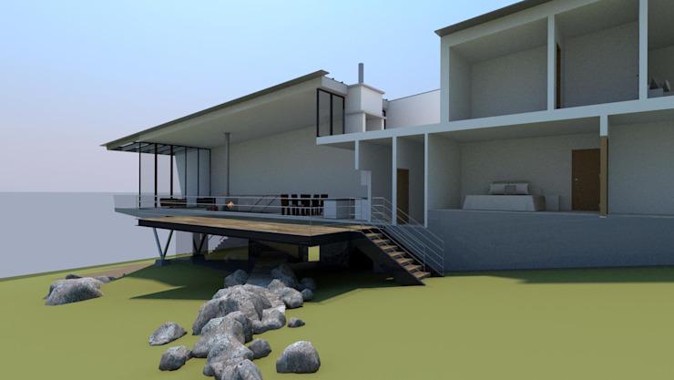 Maison en Nouvelle-Écosse, Canada : moderne par 4D Studio Architects and Interior Designers, Modern