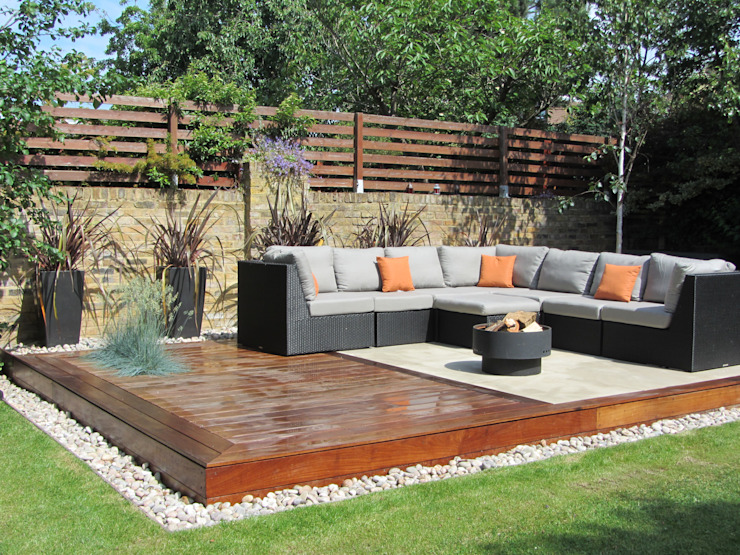 Salon de jardin extérieur Jardin moderne par Christine Wilkie Garden Design Modern
