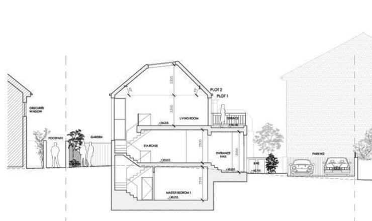 Deux maisons dans le sud de Londres Des maisons de style éclectique par 4D Studio Architects and Interior Designers Eclectic
