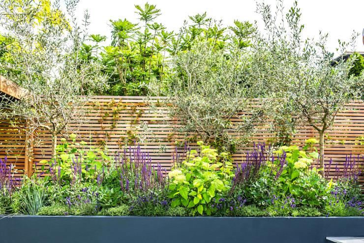 Un espace de divertissement extérieur, beau temps, mauvais temps, jardin de style méditerranéen par Kate Eyre Garden Design Mediterranean
