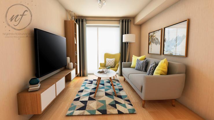 Salon de style scandinave par NF Diseño de Interiores Scandinavian