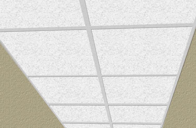 Plafond suspendu en cloisons sèches