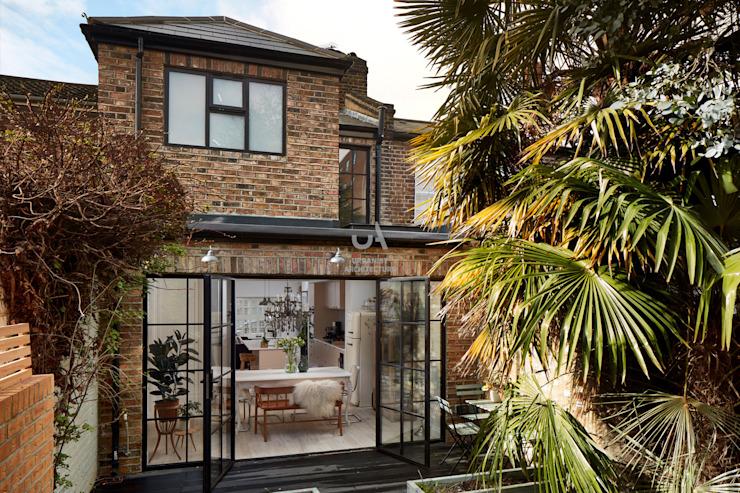 Extension d'une maison par l'urbaniste Architecture Briques modernes