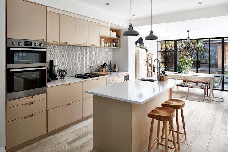 Extension d'une maison par l'urbaniste Architecture Carreaux modernes