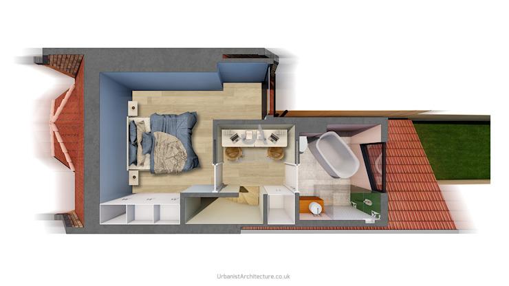 Aménagement de loft Salle de bains moderne par Urbanist Architecture Modern