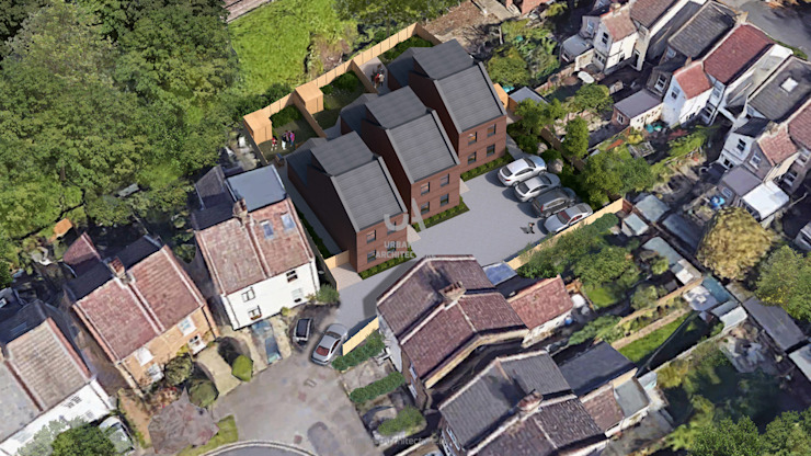 Nouvelles maisons construites par l'Urbaniste Architecture Modern Bricks