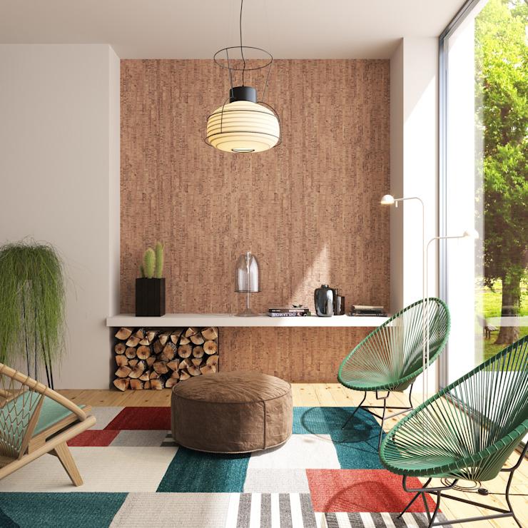 Salle d'accueil colorée Salon moderne de Go4cork Modern Cork