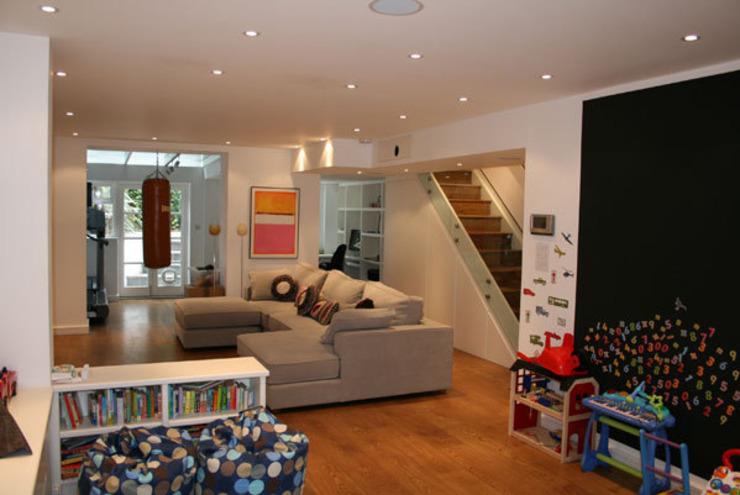 Notting Hill Apartment Salon de style éclectique par 4D Studio Architectes et Designers d'intérieur éclectiques