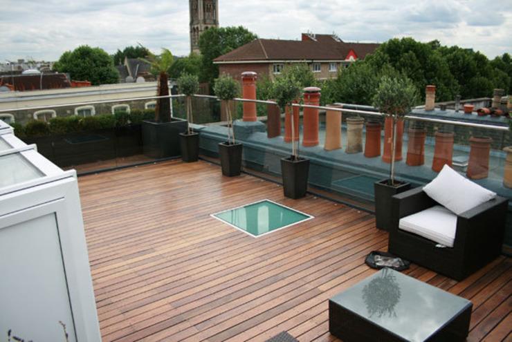 Notting Hill Apartment Balcon, véranda et terrasse de style éclectique par 4D Studio Architects and Interior Designers Eclectic