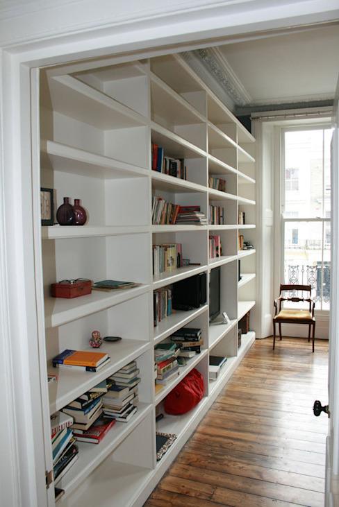Notting Hill Apartment Etude/bureau de style éclectique par 4D Studio Architectes et décorateurs d'intérieur éclectiques