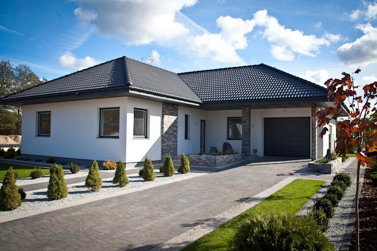 Maisons modernes de Biuro Projektów MTM Styl - domywstylu.pl Modern