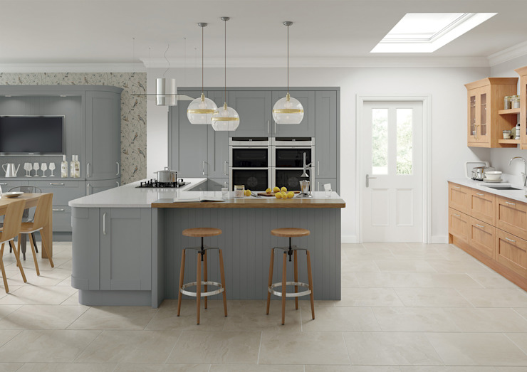 Cambridge Grey Fitted Kitchens London : modern by Metro Wardrobes London, Modern