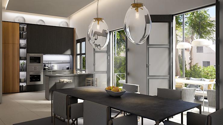 Salle à manger : éclectique par 4D Studio Architects and Interior Designers, Eclectique