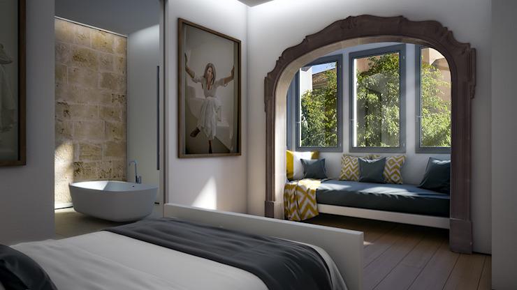 Chambre à coucher : éclectique par 4D Studio Architects and Interior Designers, Eclectique