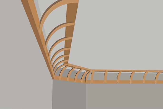 Kit pour plafond en corniche