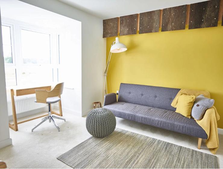 La chambre jaune Bureau/étude moderne par Aorta : le cœur de l'art moderne