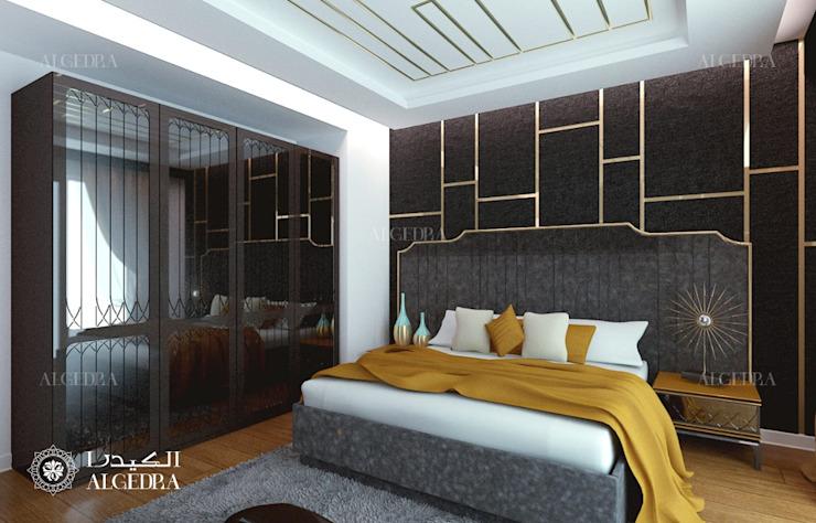 Conception de chambres à coucher dans une villa moderne à Abu Dhabi Chambre à coucher de style moderne par Algedra Interior Design Modern