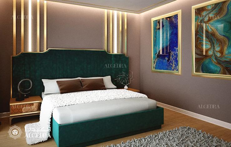 Design de chambre à coucher de luxe dans une villa moderne Chambre à coucher de style moderne par Algedra Interior Design Modern