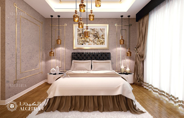 Petite chambre à coucher décoration intérieure de style moderne par Algedra Interior Design Modern