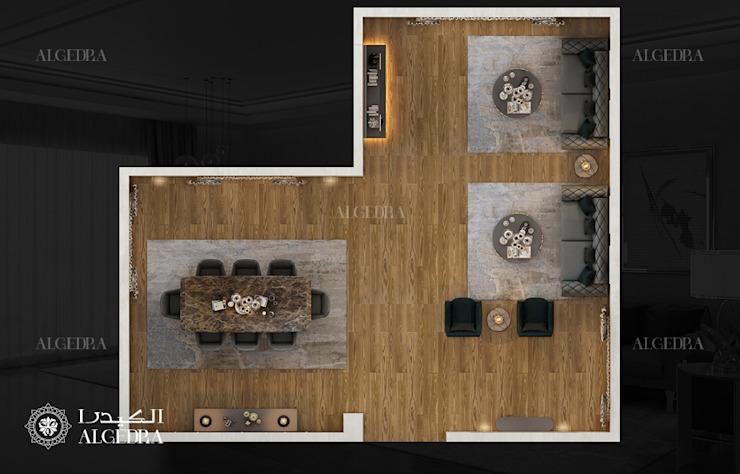 Petite villa à Abu Dhabi Plan de salon moderne par Algedra Interior Design Modern