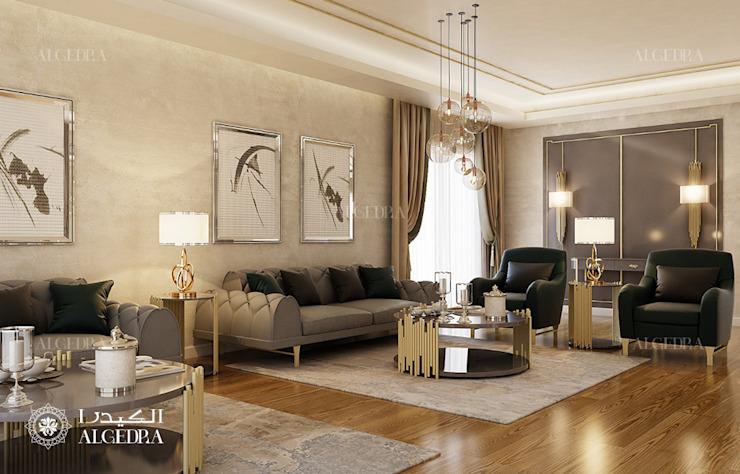 Décoration intérieure d'un salon dans une villa d'Abu Dhabi Salon moderne par Algedra Interior Design Modern