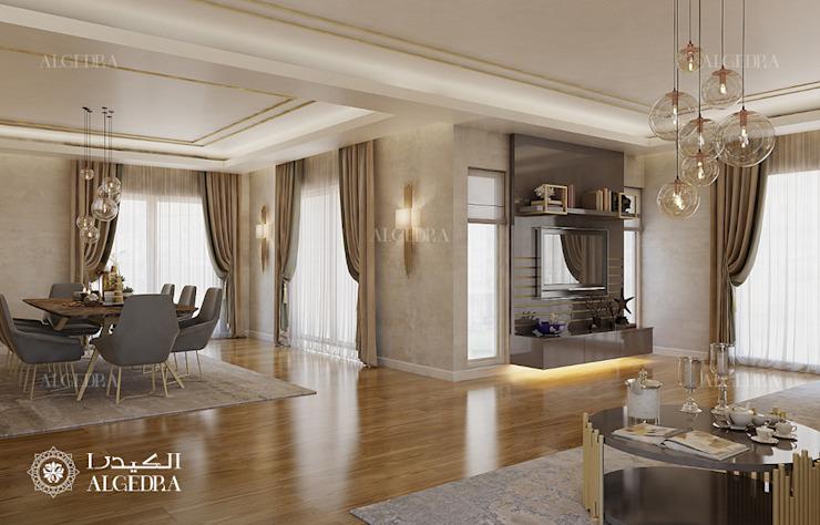 Conception d'une petite villa à Abu Dhabi Salon moderne par Algedra Interior Design Modern