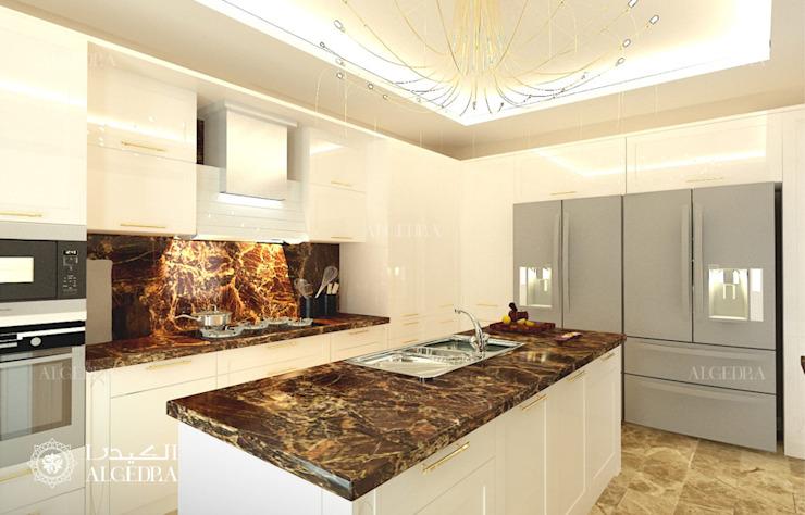 Cuisine moderne avec îlot Cuisine moderne par Algedra Interior Design Modern