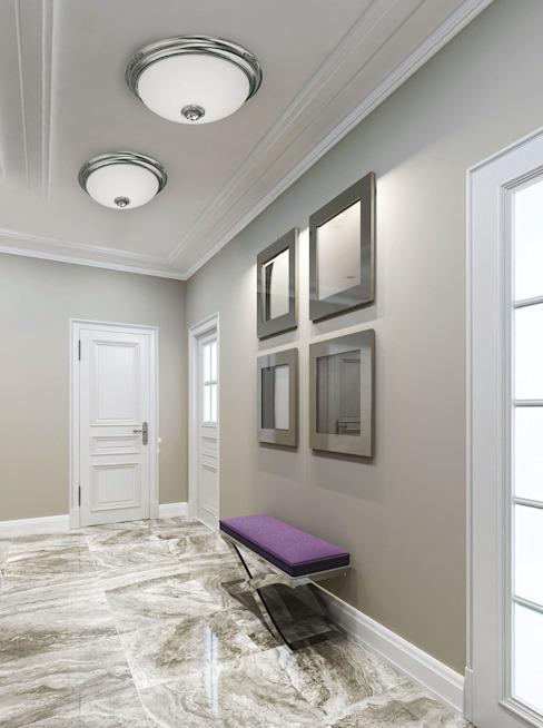 Plafonniers encastrés en verre de lait blanc et cristal Swarovski, en laiton avec finitions en nickel Couloir, couloir et escalier de style classique Lustre de luxe Cuivre/Bronze/Laiton classique