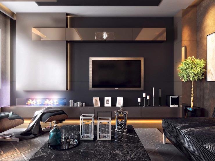 Salon moderne par ANTE MİMARLIK Moderne