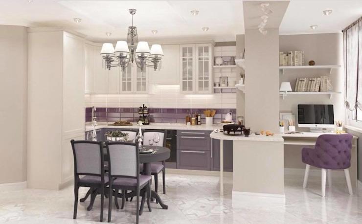 Inspiration d'un espace ouvert de cuisine avec un lustre de luxe en laiton décoré de cristaux Swarovski. par Lustre de luxe Classic Cuivre/Bronze/Bras