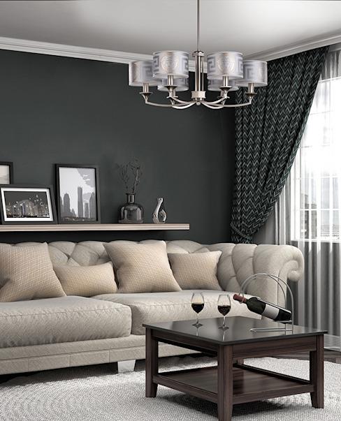 Abat-jour Versace argentés pour le plus beau salon de style moderne Salon moderne par le lustre de luxe Cuivre/bronze/laiton moderne