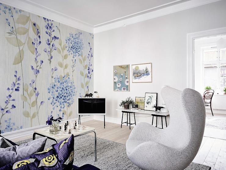 Salon de style éclectique Violet Flowers par Pixers Eclectic