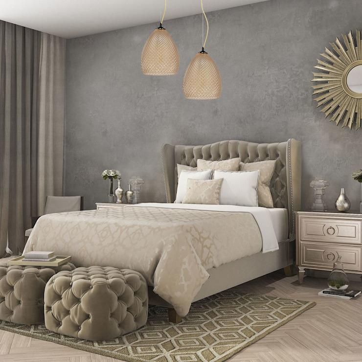 Plafonnier simple à suspendre GLABS avec abat-jour en verre ambré par Luxury Chandelier Modern Sandstone