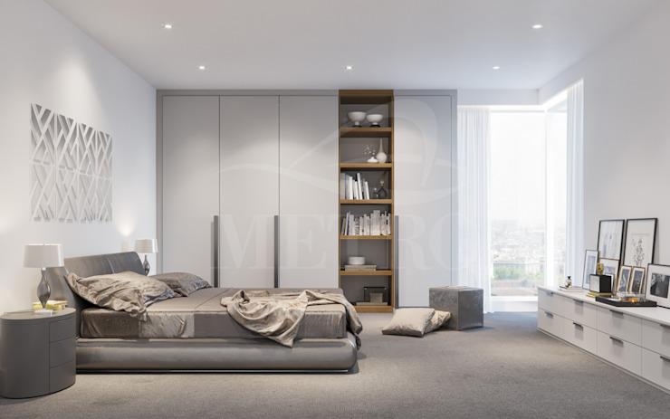 Chambres à coucher sur mesure Londres : moderne par Metro Wardrobes Londres, moderne