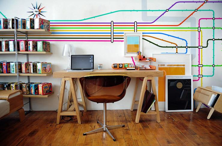 Underground Modern étude/bureau par Pixers Modern