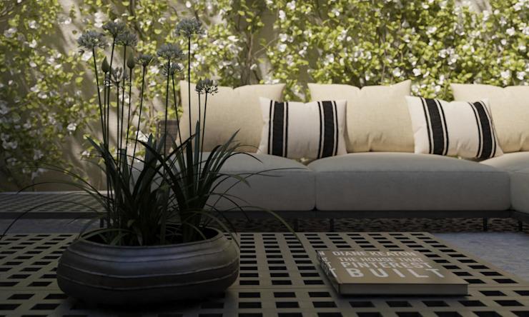 Carre de Sol, Palma Balcon, véranda et terrasse de style éclectique par 4D Studio Architects and Interior Designers Eclectic