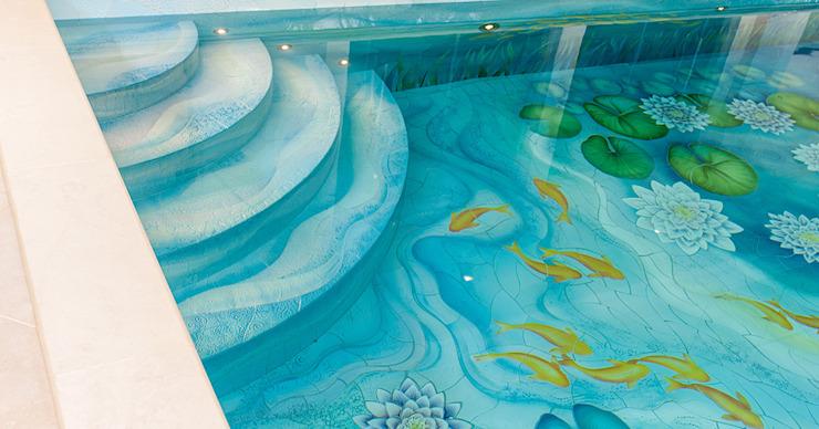 Marches de piscine - Piscine sur mesure de style classique par Aqua Platinum Projects Classic