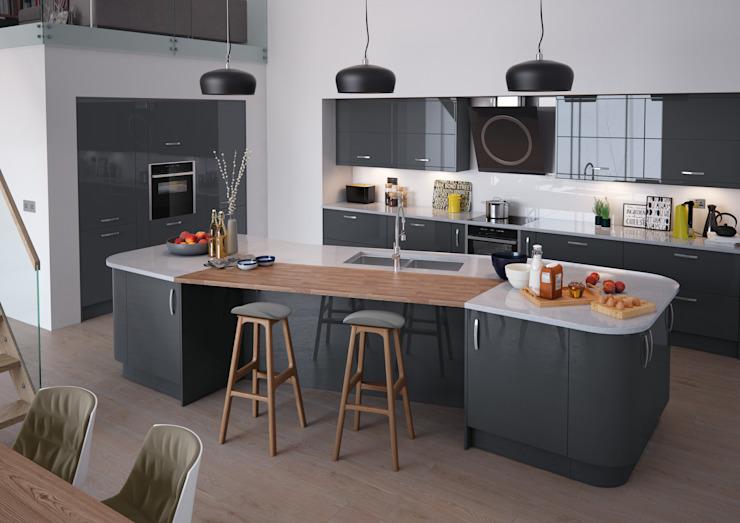 Vivo Gloss Anthracite Cuisines équipées Londres : moderne par Metro Wardrobes Londres, Moderne